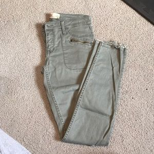 Green pants with holes
